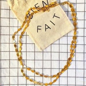 Madewell goldtone plate chain necklace